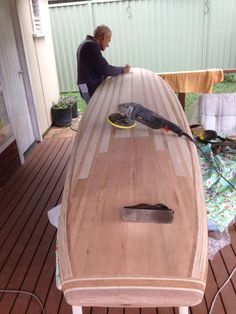 "Father/son DIY kit project - building a Stu's 9'6"" SUP -Tucker Surf Supply kit."