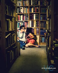 A Book Lover's Engagement | Victor Chalfant