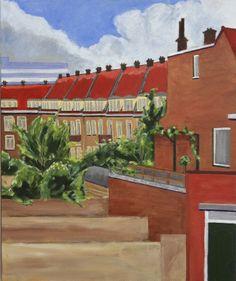 Uitzicht van Atelier. 50x60 cm acrylic canvas Anthony van Gelder