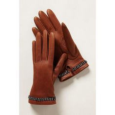 Marzipan Leather Gloves (1,610 MXN) found on Polyvore featuring accessories, gloves, sand and leather gloves