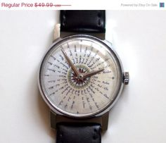 ON SALE Vintage Watch Soviet watch wind rose on by TickTackShop