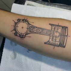 Neue Tattoos, Body Art Tattoos, Tattoo Drawings, Cool Tattoos, Motor Tattoo, Tattoo Sleeve Designs, Sleeve Tattoos, Gear Tattoo, Tattoo Lettering Design