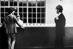 George Harrison and John Lennon,  Abbey Road Studios, London, 1967