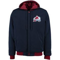 Colorado Avalanche JH Design Fleece-Nylon Reversible Jacket - Navy - $74.99