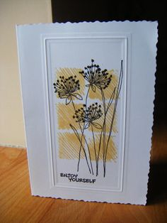 simple color blocks with flower stamp
