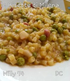 Pasta e piselli - by far the easiest and best hearty meal ever - my nonna taught me how to do this Baby Food Recipes, Pasta Recipes, Soup Recipes, Great Recipes, Favorite Recipes, Cooking Panda, One Pot Pasta, Cooking Salmon, Italian Pasta