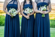 Each bridesmaid can wrap her dress in the way she feels most comfortable - you can be as creative as you like with the tulle bands to create any style. Fabric Combinations, Bridesmaid Dresses, Wedding Dresses, Body Types, Compliments, Feels, Bands, Tulle, African
