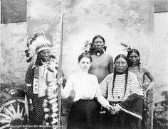 Olive Baker; Sam Lone Bear; Indian; Native American; Buffalo Bill's Wild West; BBWW; cast