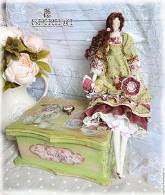 Куклы Тильды ручной работы. Ярмарка Мастеров - ручная работа. Купить Чайная Фея и шкатулка для чая. Handmade. Чайная коробка