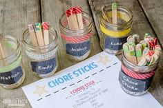 Chore Sticks : The Simple Chore System for Kids That Works