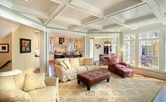 Like the bead board inside of the coffered ceiling.
