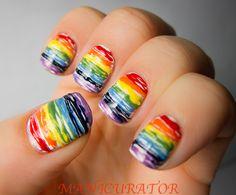 Rainbow Nails Tutorial.