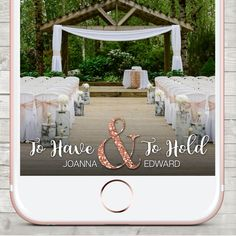Wedding Snapchat filter, Snapchat Geofilter Wedding, Custom Snapchat Filter, Gold, Rose Gold, bronze Filter, Ampersand, To Have & To Hold by LMNDesignStudio on Etsy https://www.etsy.com/ca/listing/510670321/wedding-snapchat-filter-snapchat