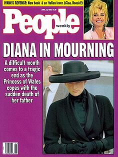 photo | Death, Princess Diana Cover, Coping and Overcoming Illness, The British Royals, Ivana Trump, Princess Diana Princess Of Wales, Princess Diana, Ivana Trump, British Royals, Magazine Covers, New Books, Magazines, Death, People