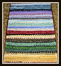 """Norma is the blogger today! In her own words. . . . """"Here is my first rug! I am not sure I can allow anyone to wipe their fee..."""