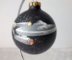 Star Trek Enterprise Hand Painted Ornament -Trekkie Sci-Fi Starship Painting on Etsy, $32.00