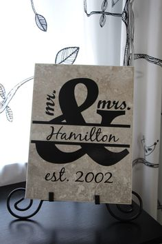 A personal favorite from my Etsy shop https://www.etsy.com/listing/237104906/mr-mrs-newlyweds-couple-gift-wedding