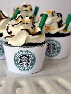Starbucks Wedding Cupcakes???  Yes Please!!