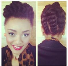 protective hairstyles for black women | Natural Hairstyle for Black Women: Protective Style