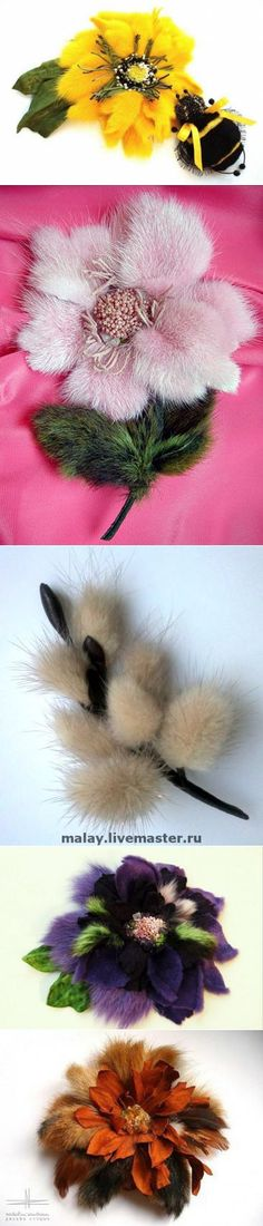(+1) - Цветы из меха разных авторов | Очумелые ручки
