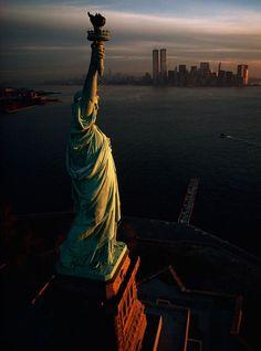Porto de Nova Iorque ao amanhecer, Nova Iorque , EUA, 1978.