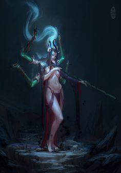ArtStation - Demon Sorcerer illustration, Herman Ng