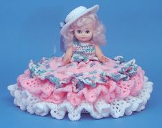 "Crochet Bed Doll Patterns | 13"" SHEILA Crochet Bed Doll Pattern"