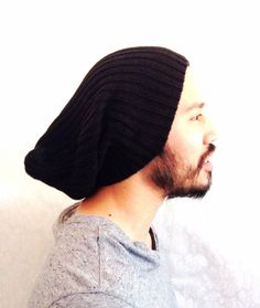 Slouch Mens Beanie Hat Spring Men Clothes Warm by MissTopKnot, $30.00