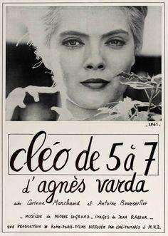 Poster for Cléo 5 to 7 (1962) by Agnès Varda.