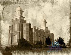 Logan LDS/Mormon temple. Vintage.