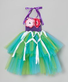 Take a look at this Green & Turquoise Mermaid Tutu Dress - Infant, Toddler & Girls by Royal Gem on #zulily today!