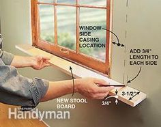 Refresh your old double-hung windows or add a touch of class to your casement windows by making your own window stools. It's easy—just follow these four steps.