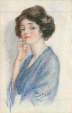 Girls of Today Set - Marjorie Mostyn.  Title: Fancy Free