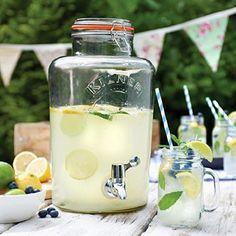 Kilner Getränkespender, Bowle & Saft Glasbehälter mit Plastik-Zapfhahn, 8Ltr.