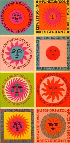 Alexander Girard poster design for La Fonda del Sol Photo Wall Collage, Collage Art, Image Swag, Alexander Girard, Logos Retro, Photocollage, Grafik Design, New Wall, Graphic Design Inspiration