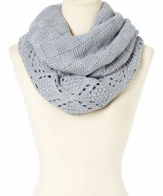 Look at this Gray Oversize Infinity Scarf on #zulily today!