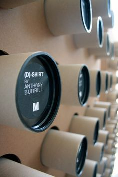 Packaging for a SPECIAL EDITION T-shirt by Antonio Colomboni, via Behance