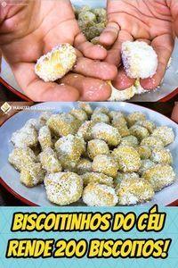 BISCOITINHOS MARAVILHOSOS DO CÉU – A FOTO JÁ DIZ TUDO NÉ? RENDE MAIS DE 2OO! #doce #biscoito #sobremesas #comida #manualdacozinha