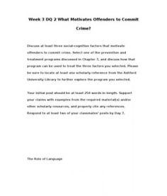 CRJ308   CRJ 308   Week 3 DQ 2 What Motivates Offenders to Commit Crime? --> http://www.scribd.com/doc/148411875/crj308-crj-308-week-3-dq-2-what-motivates-offenders-to-commit-crime