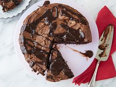 Brownie Tart Recipe : Ina Garten : Food Network - FoodNetwork.com - can use spring form pan for tart pan.