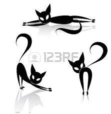 czarny kot szkic - Szukaj w Google