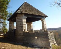 Jensen Point, Pacific, MO, built by the CCC in 1942.  Closest Civil War site to St. Louis.