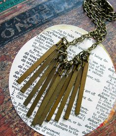 Fringe Necklace  Tribal Style Brass Bars  by ReneeLoughlinDesigns, $38.00