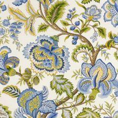 Robert Allen Contract Garden Of Eden 1243- Delft Fabric