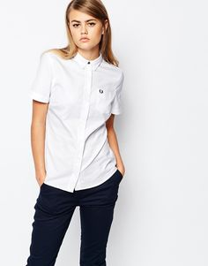Fred+Perry+Classic+Short+Sleeve+Oxford+Shirt