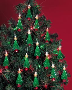 Holiday Beaded Ornament Kit-Mini Trees