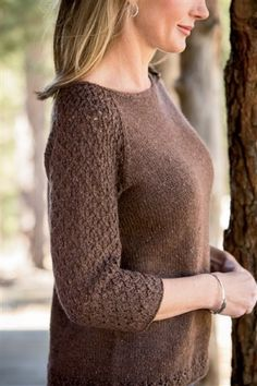 Ravelry: Brick Lane Pullover pattern by Amanda Scheuzger gilet femme Latest Sweater Design, Tricot D'art, Knit Fashion, Knit Or Crochet, Knitting Designs, Pulls, Baby Knitting, Knitting Daily, Brick Lane