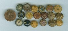 Pierced Vegetable Ivory Buttons