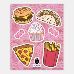 Fun Junk Foods | Stickers, Sticker Sheets and Vinyl Stickers | HUMAN