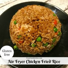 Air Fryer Chicken Fried Rice Recipe From Val's Kitchen (air frier recipes) Air Fryer Oven Recipes, Air Frier Recipes, Air Fryer Dinner Recipes, Air Fryer Recipes Gluten Free, Rice Recipes, Chicken Recipes, Cooking Recipes, Cooking Tips, Ninja Recipes